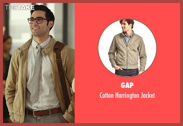 Gap beige jacket from Supergirl seen with Clark Kent / Superman (Tyler Hoechlin)