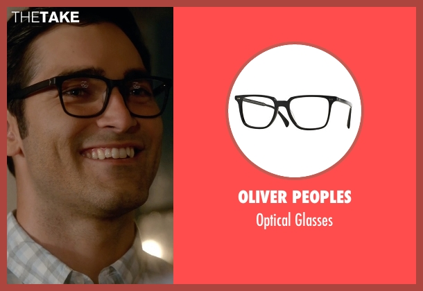 Oliver Peoples black glasses from Supergirl seen with Clark Kent / Superman (Tyler Hoechlin)
