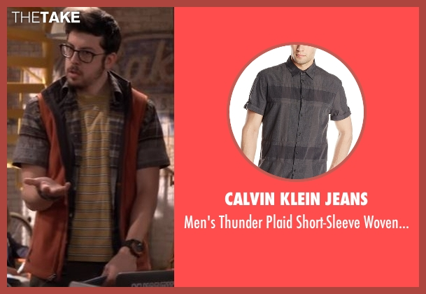 Calvin Klein Jeans gray shirt from The Great Indoors seen with Clark (Christopher Mintz-Plasse)