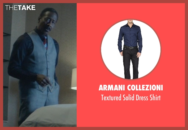 Armani Collezioni blue shirt from John Wick seen with Clarke Peters (Harry)