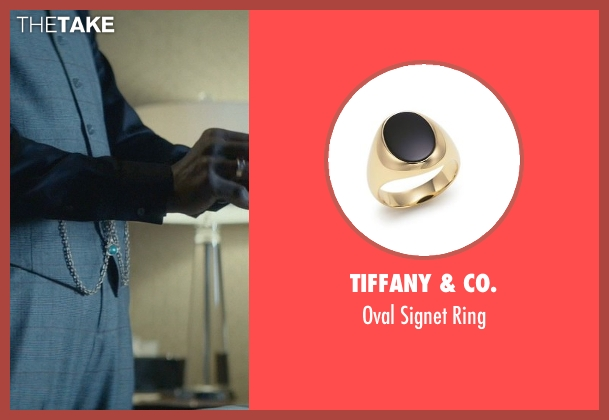 Tiffany & Co. gold ring from John Wick seen with Clarke Peters (Harry)