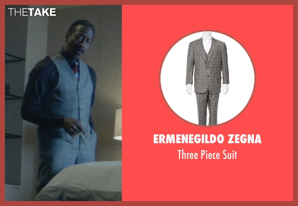 Ermenegildo Zegna gray suit from John Wick seen with Clarke Peters (Harry)