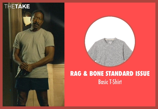 Rag & Bone Standard Issue gray t-shirt from John Wick seen with Clarke Peters (Harry)