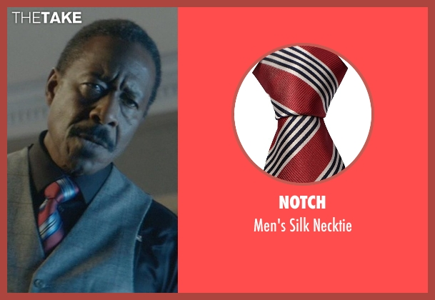 Notch red necktie from John Wick seen with Clarke Peters (Harry)