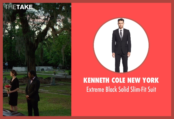 Kenneth Cole New York black suit from The Best of Me seen with Clarke Peters (Morgan Dupree)