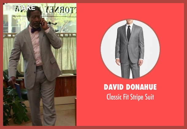David Donahue gray suit from The Best of Me seen with Clarke Peters (Morgan Dupree)