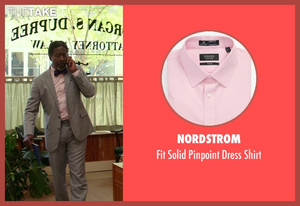 Nordstrom pink shirt from The Best of Me seen with Clarke Peters (Morgan Dupree)