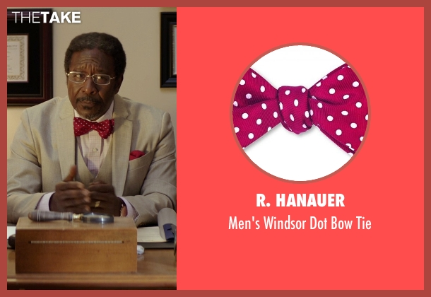 R. Hanauer red tie from The Best of Me seen with Clarke Peters (Morgan Dupree)