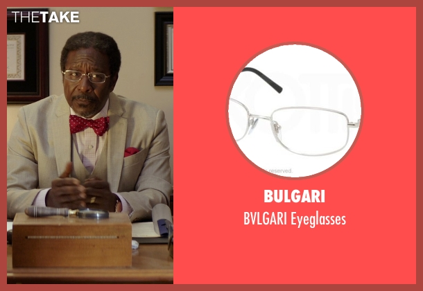 Bulgari silver eyeglasses from The Best of Me seen with Clarke Peters (Morgan Dupree)
