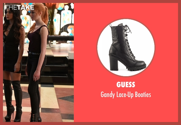Guess black booties from Shadowhunters seen with Clary Fray (Katherine McNamara)