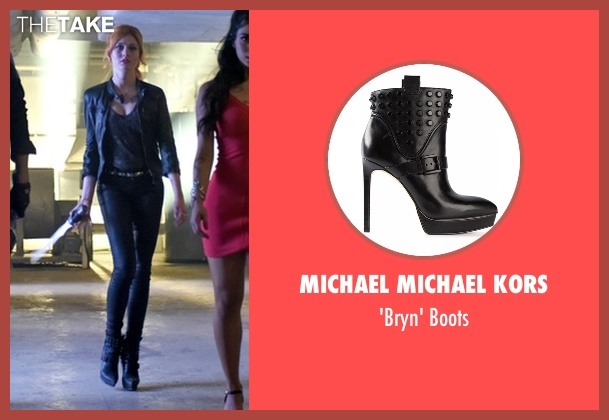 Michael Michael Kors black boots from Shadowhunters seen with Clary Fray (Katherine McNamara)