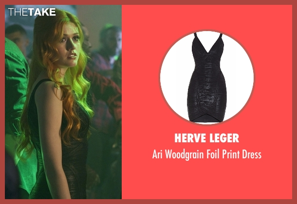 Herve Leger black dress from Shadowhunters seen with Clary Fray (Katherine McNamara)