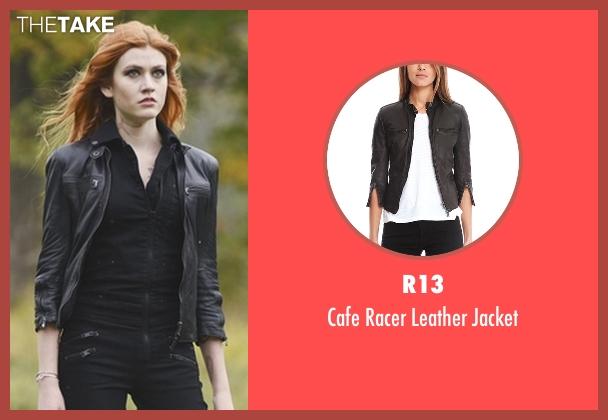 R13 black jacket from Shadowhunters seen with Clary Fray (Katherine McNamara)