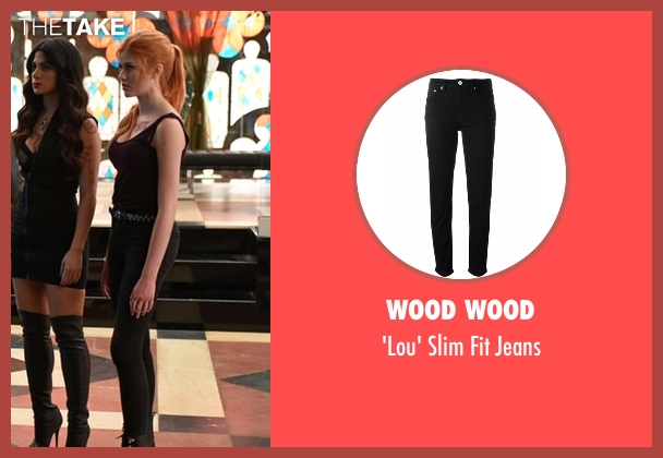 Wood Wood black jeans from Shadowhunters seen with Clary Fray (Katherine McNamara)