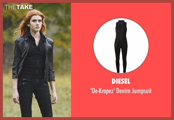 Diesel black jumpsuit from Shadowhunters seen with Clary Fray (Katherine McNamara)