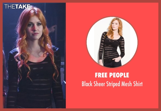 Free People black shirt from Shadowhunters seen with Clary Fray (Katherine McNamara)
