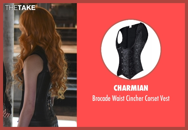 Charmian black vest from Shadowhunters seen with Clary Fray (Katherine McNamara)