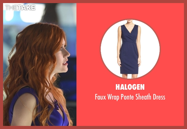Halogen blue dress from Shadowhunters seen with Clary Fray (Katherine McNamara)