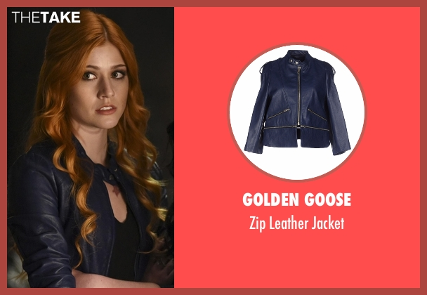 Golden Goose blue jacket from Shadowhunters seen with Clary Fray (Katherine McNamara)
