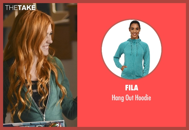 Fila green hoodie from Shadowhunters seen with Clary Fray (Katherine McNamara)
