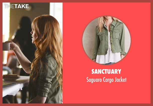 Sanctuary green jacket from Shadowhunters seen with Clary Fray (Katherine McNamara)