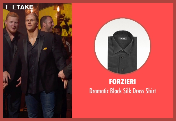Forzieri black shirt from Pitch Perfect 2 seen with Clay Matthews (Football Player)