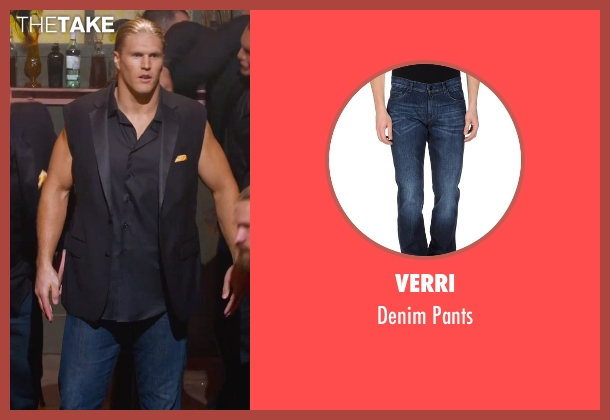 Verri blue pants from Pitch Perfect 2 seen with Clay Matthews (Football Player)