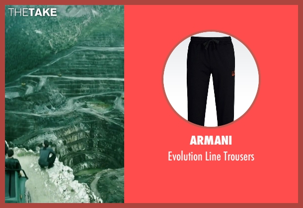 Armani black trousers from Point Break seen with Clemens Schick (Roach)