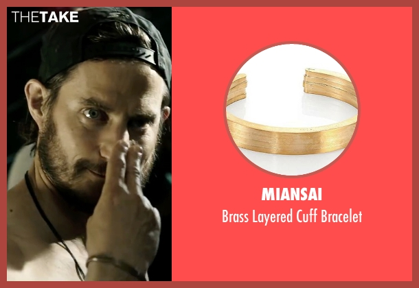 Miansai gold bracelet from Point Break seen with Clemens Schick (Roach)