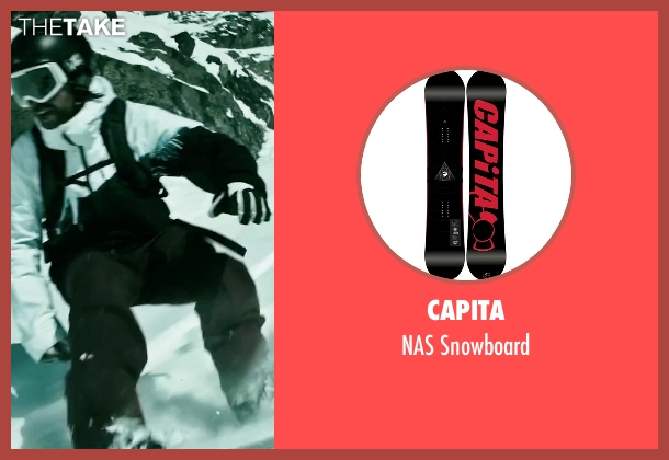 Capita snowboard from Point Break seen with Clemens Schick (Roach)