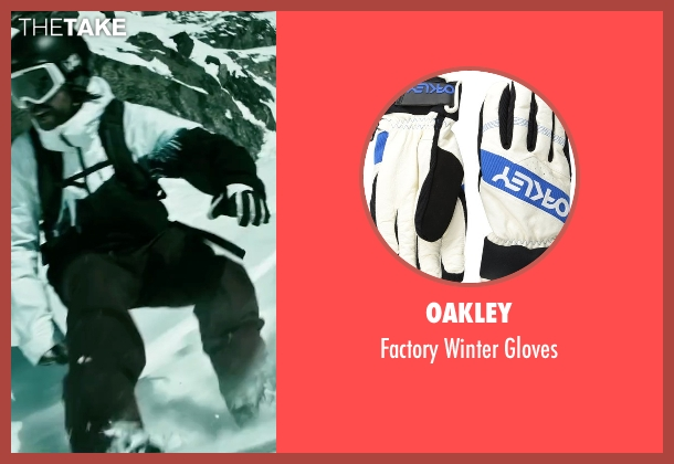 Oakley white gloves from Point Break seen with Clemens Schick (Roach)