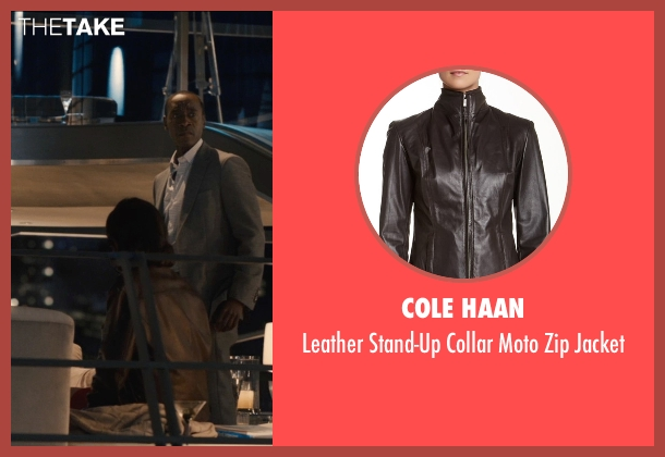 Cole Haan brown jacket from Avengers: Age of Ultron seen with Cobie Smulders (Maria Hill)