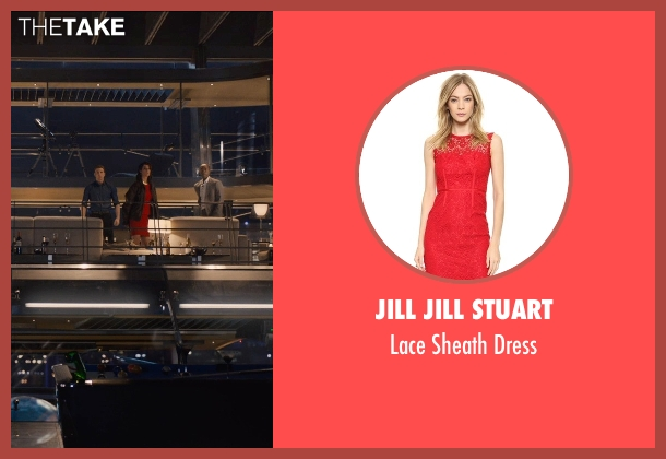 Jill Jill Stuart red dress from Avengers: Age of Ultron seen with Cobie Smulders (Maria Hill)
