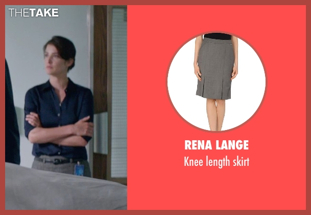 RENA LANGE gray skirt from Captain America: The Winter Soldier seen with Cobie Smulders (Maria Hill)