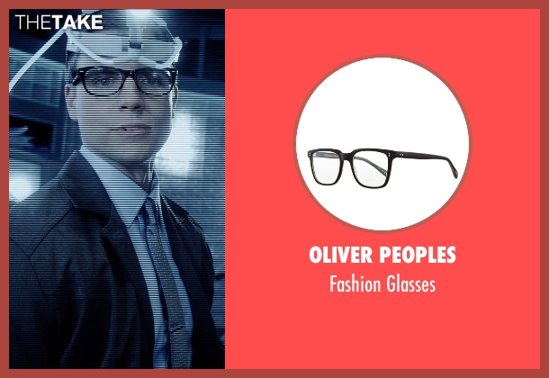 Oliver Peoples black glasses from Vice seen with Colin Egglesfield (Reiner)