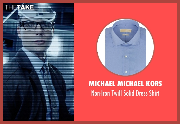 MICHAEL Michael Kors blue shirt from Vice seen with Colin Egglesfield (Reiner)