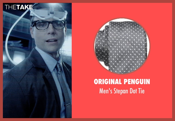 Original Penguin gray tie from Vice seen with Colin Egglesfield (Reiner)