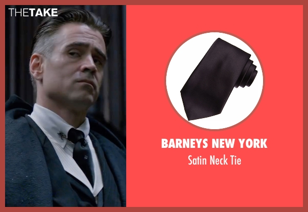 Barneys New York black tie from Fantastic Beasts and Where to Find Them seen with Colin Farrell (Percival Graves)