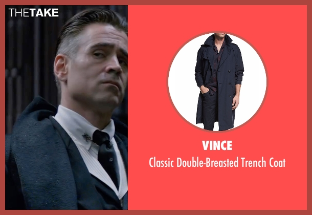 Michael Kors Mens blue coat from Fantastic Beasts and Where to Find Them seen with Colin Farrell (Percival Graves)