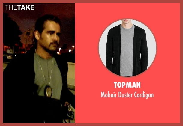 Topman black cardigan from Miami Vice seen with Colin Farrell (Sonny Crockett)