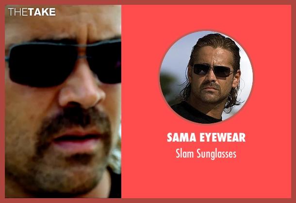 Sama Eyewear black sunglasses from Miami Vice seen with Colin Farrell (Sonny Crockett)
