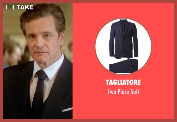 Tagliatore blue suit from Bridget Jones's Baby seen with Colin Firth (Mark Darcy)