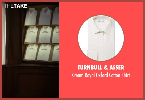 Turnbull & Asser beige shirt from Kingsman: The Secret Service seen with Colin Firth (Harry Hart)
