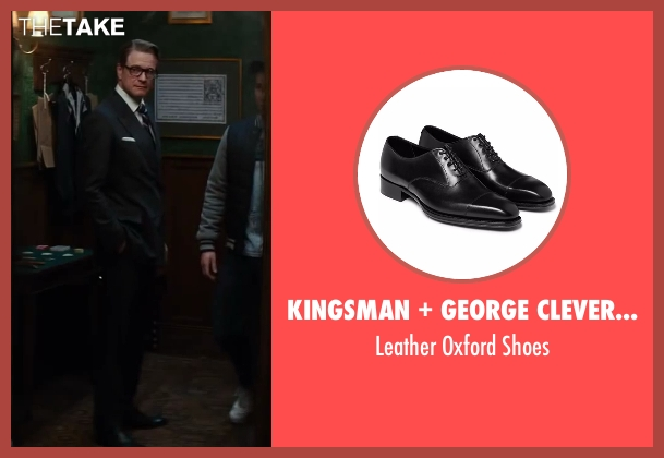George Cleverley black shoes from Kingsman: The Secret Service seen with Colin Firth (Harry Hart)