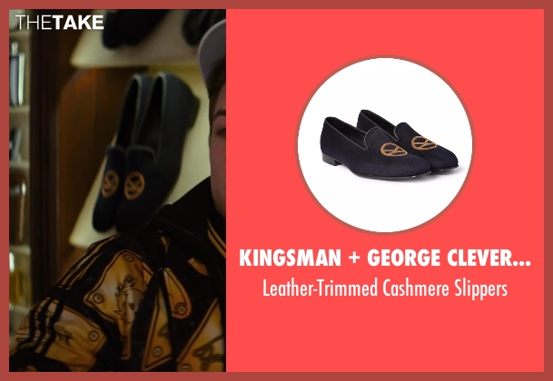 George Cleverley black slippers from Kingsman: The Secret Service seen with Colin Firth (Harry Hart)