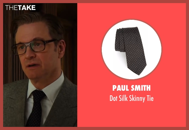 Drake's black tie from Kingsman: The Secret Service seen with Colin Firth (Harry Hart)