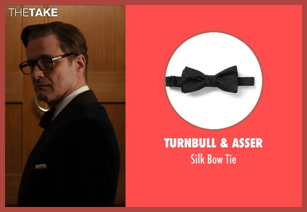 Turnbull & Asser black tie from Kingsman: The Secret Service seen with Colin Firth (Harry Hart)
