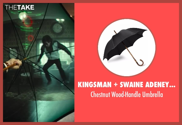 Kingsman black umbrella from Kingsman: The Secret Service seen with Colin Firth (Harry Hart)