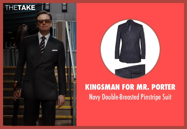 Kingsman for Mr. Porter blue suit from Kingsman: The Secret Service seen with Colin Firth (Harry Hart)