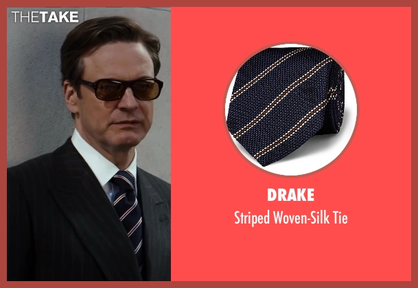 Drake blue tie from Kingsman: The Secret Service seen with Colin Firth (Harry Hart)